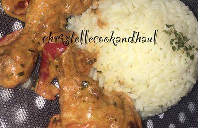 Poulet/dinde tandoori au coco et riz