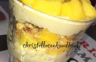 Verrine exotique mangue coco