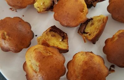 Muffins coeur nutella sans thermomix
