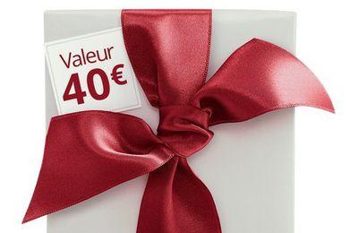 Cadeau surprise Yves Rocher 40 € offert!