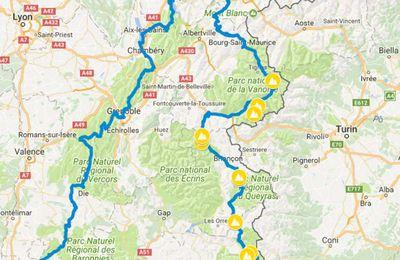14 - 4ème Parcours 2017 - 29/07/17 au 20/08/17 - départ et arrivée d'Avignon - Luberon, Gorges du Verdon, routes des grandes Alpes, La Chartreuse, Le Vercors, viaRhona ...