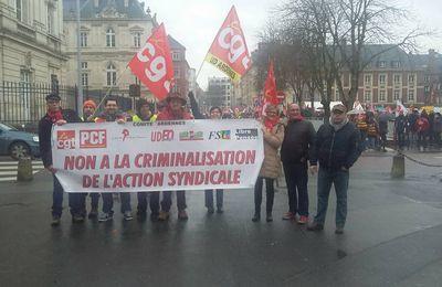 """Les camarades ardennais en soutien pour les Ex """"Goodyear"""""""