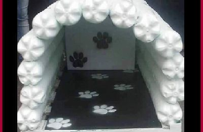 Turn Empty Soda Pop Bottles Into An INDOOR Or Garage Dog House For Fido