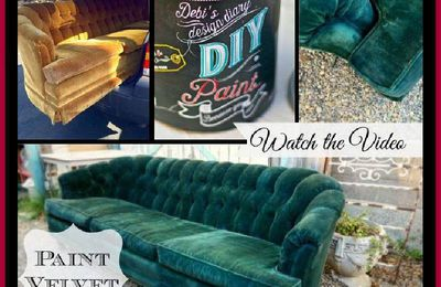 How To Paint Upholstery And Keep The Fabric Soft, Even Velvet!