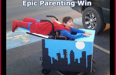 Dad Makes 'Flying Superman' Costume For His Disable Son