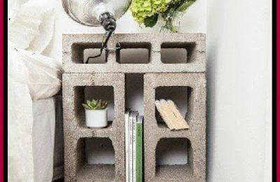 Turn Cinder Blocks Into A Night Stand / Side Table