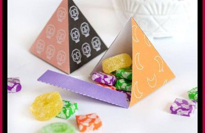 Halloween Pyramid Candy Gift Boxes (FREE PRINTABLES)