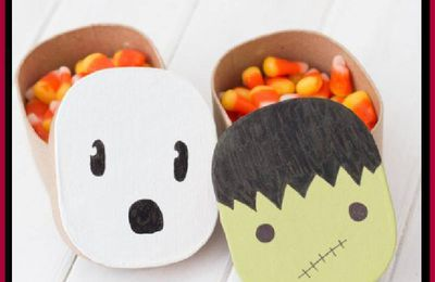 DIY Halloween Paper Mache Boxes