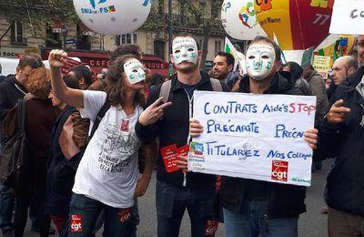 Collectif des contrats aidés, cgt , supap- fsu à Madame la Maire de Paris