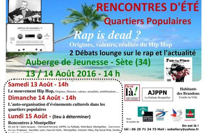 RENCONTRES D'ÉTÉ Quartiers Populaires 2016