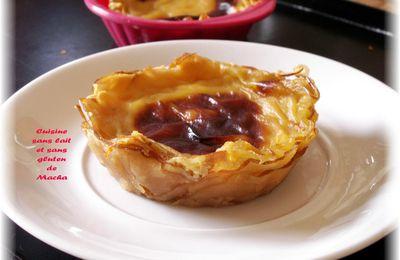Tartelettes à la crème en croûte de pomme