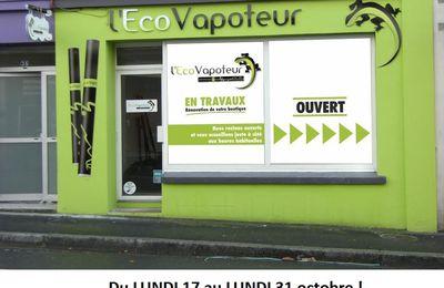 Votre boutique de vape à Brest-centre va faire peau neuve !