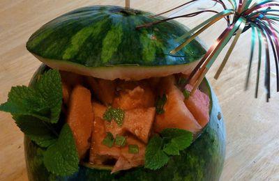Recette estivale : pastèque anisée à la menthe