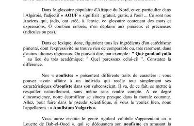 """""""Aouf, Aoufisme, Aoufiste""""."""