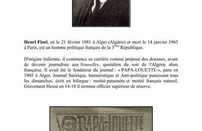 Henri FIORI, député d'Alger.