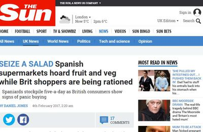 The Sun: Supermercados españoles acaparan lechugas mientras en Inglaterra las racionan