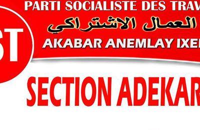 Parti Socialiste des Travailleurs - section d'Adekar -