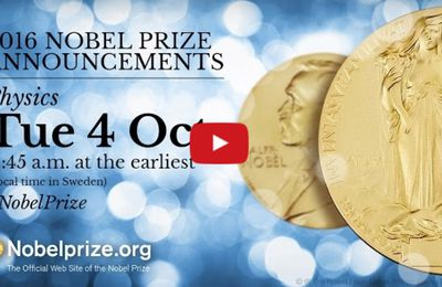 Nobel de physique 2016 : Thouless, Haldane et Kosterlitz récompensés. K-Direct