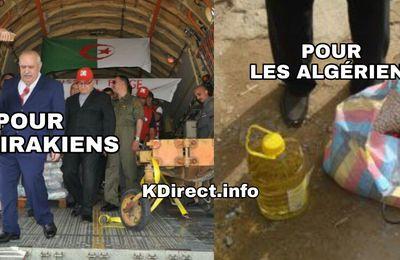 Malgré la crise, l'Algérie achemine 180 tonnes de denrées alimentaires pour les Irakiens. KDirect.info