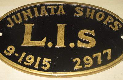 Reproduction plaque de constructeur de locomotive US Juniata Shops