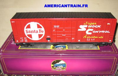 Wagon 50' High Cube Box Car Santa Fe échelle O 3 rails MTH