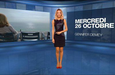 Gennifer Demey Météo M6 le 26.10.2016