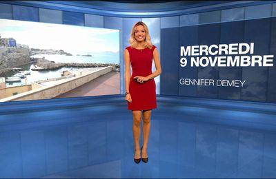 Gennifer Demey Météo M6 le 09.11.2016