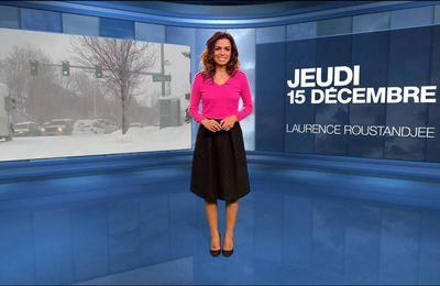 Laurence Roustandjee Météo M6 le 15.12.2016