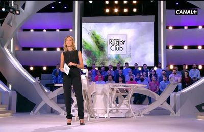 Isabelle Ithurburu Canal Rugby Club Canal+ le 08.01.2017