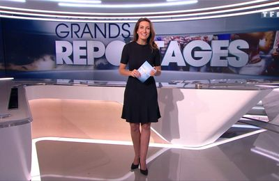 Anne-Claire Coudray JT 13H TF1 le 18.02.2017