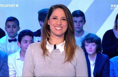 Charlotte Namura Téléfoot TF1 le 05.03.2017