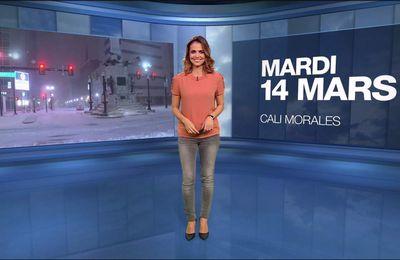 Cali Morales Météo M6 le 14.03.2017