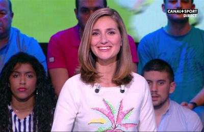 Marie Portolano 19H30 Foot Canal+Sport le 17.03.2017