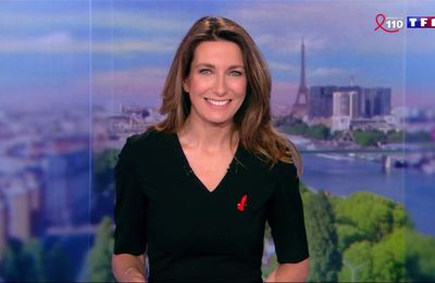 Anne-Claire Coudray JT 13H TF1 le 25.03.2017