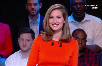 Marie Portolano 19H30 Foot Canal+Sport le 14.04.2017