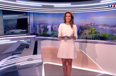 Anne-Claire Coudray JT 13H TF1 le 28.05.2017