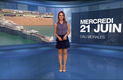 Cali Morales Météo M6 le 21.06.2017