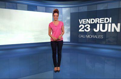 Cali Morales Météo M6 le 23.06.2017
