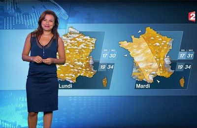 Anaïs Baydemir Météo France 2 le 13.07.2017