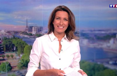 Anne-Claire Coudray JT 13H TF1 le 17.09.2017