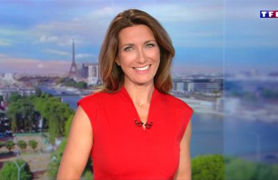 Anne-Claire Coudray JT 20H TF1 le 23.09.2017