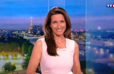 Anne-Claire Coudray JT 20H TF1 le 20.10.2017