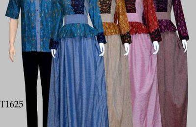 Model Baju Batik Pesta Simpel Modern