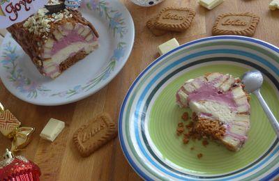 [ Foodista Challenge # 26 ] : Ma Divine Bûche Framboise/Poivre Gris et Chocolat Blanc/ ! ❤