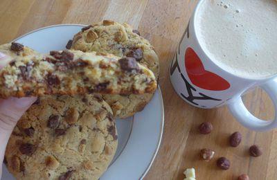 [ Compile Moi Un Menu #Janvier ] : Mes Cookies Américains aux Toblerones/Chocolat/Noisettes !