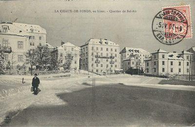 La Chaux-de-Fonds en hiver - Quartier de Bel-Air