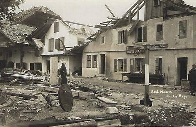 Restaurant de La Loge (Maurer)  près de La Chaux-de-Fonds - Cyclone du 23 août 1934