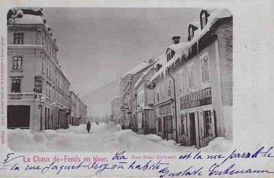 La Chaux-de-Fonds en hiver - Rue Jean Richard