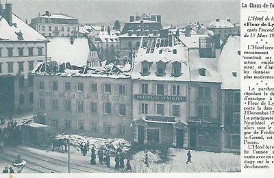 La Chaux-de-Fonds - Hôtel de la Fleur de Lys après l'incendie du 13 Mars 1911