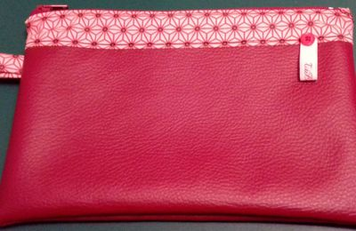 Pochette-Trousse simili rouge